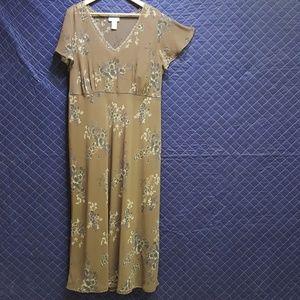Avenue lace-trimmed maxi dress